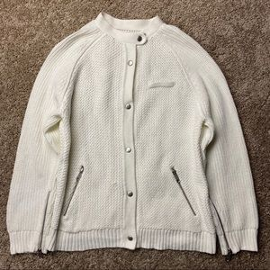 Leith Chunky Cotton Cardigan Sweater M